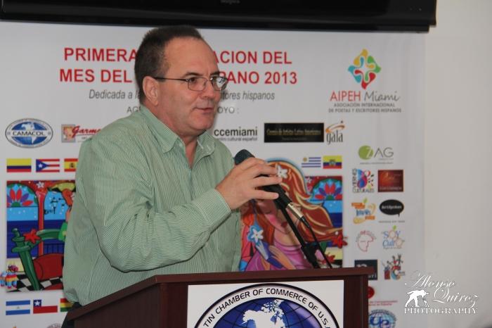 Luciano García, Director Ejecutivo de CAMACOL, durante el acto de inauguración.