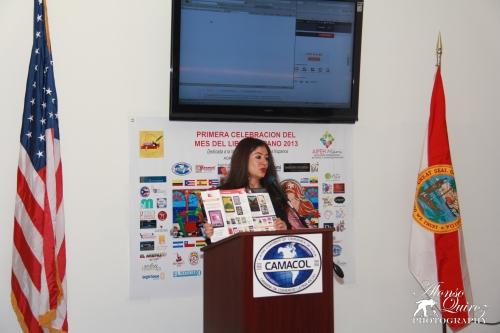 Presentación de Bajalibros.com durante el acto de inauguración.