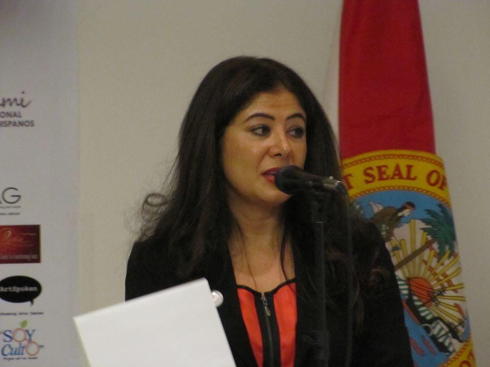 Pilar Velez apertura del Mes del Libro Hispano Miami 2013
