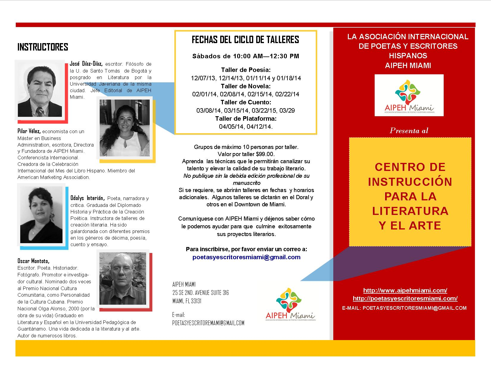 Brochure de talleres para la Feria del Libro 2014
