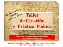 Banner Taller de Poesia Odalys Interian