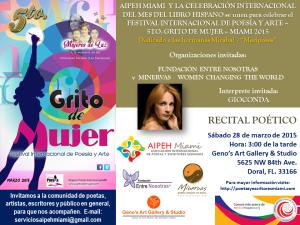 TARJETA DE INVITACION A GRITO DE MUJER 2015