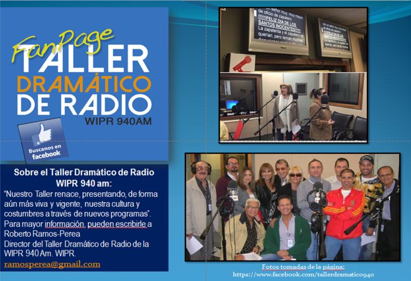 Taller Dramatico Radio Puerto Rico fotos de grupo